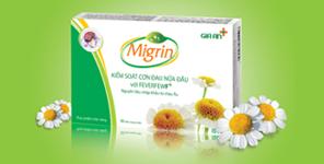 Migrin có thành phần chính là feverfew, hỗ trợ điều trị đau nửa đầu